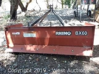 "Rhino BX60 60"" Box Scraper 3-point Tractor Attachment"