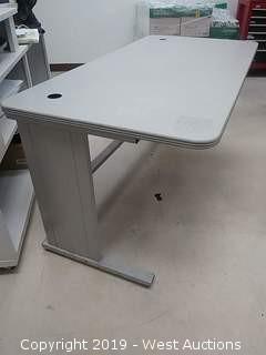 "60""W x 30""D x 29""H Desk with Metal Legs"