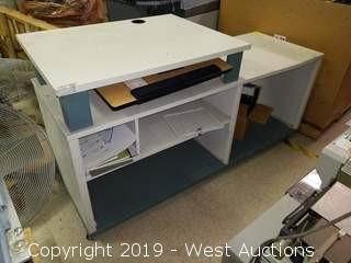 Rolling Multi-level Counter/Cabinet
