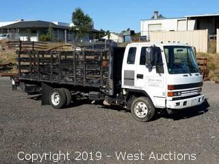 1995 Isuzu Diesel Stake Side Flatbed Truck with Liftgate