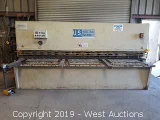 U.S. Industrial Machinery US 1050 10' Shear With Power Feed And Digital Readout