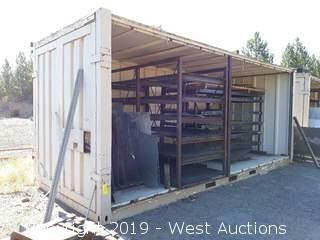 21' Open Sided Storage Sea Container