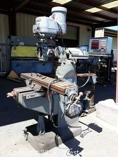 Bridgeport Vertical Milling Machine With Power Feed And Digital Readout