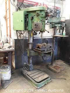 1998 Heltos VS32B-UL Heavy Duty Drill Press with Vise