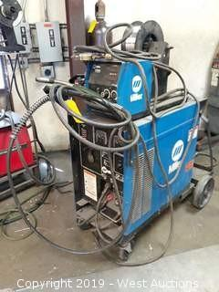 Miller CP-200 Arc Welder With Wire Feeder, Gun And Cart