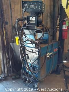 Miller CP-200 DC Welding Power Source With Wire Feeder, Cart And Gun