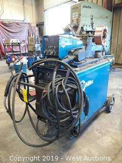 Miller Dimension 452 DC Welding Power Supple With Miller Feeder, Guns, And Welding Cart