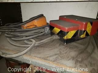 Shelf; (2) Machinery Foot Controls