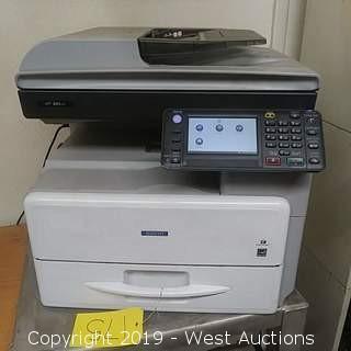 Savin MP301SPF Black and White Laser Multifunction Printer (MFP)