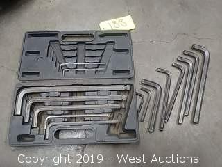 (15) Assorted Hex/Allen Wrenches with Case