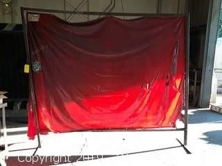 6x8 Welding Curtain With Stand