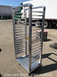 "Stainless Steel Portable Tray Rack 19""x29""x68"""