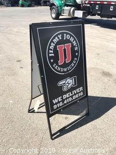 2'x4' Metal Sign Stand