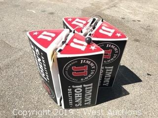 (4) Jimmy John's Delivery Car Toppers