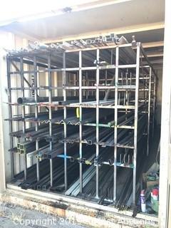 Aluminum Inventory Storage Rack With Aluminum Material