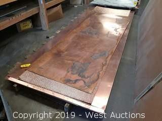 (14) Sheets Of Copper Sheet Metal