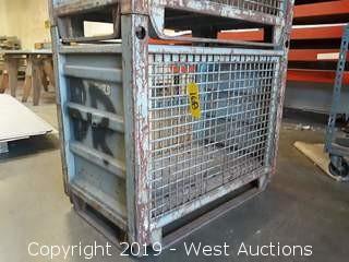 """(1) Steel King 40"""" X 24"""" Stackable Forkliftable Steel Bin"""