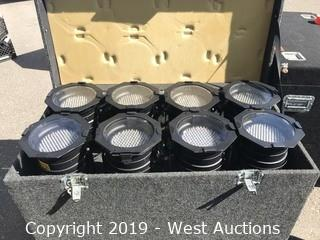 (8) American DJ P64 LED on Floor Bases