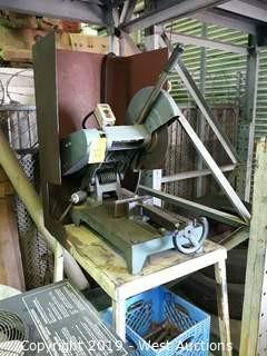 "Cutting Machine 5HP 16"" Cut Off Saw With Steel Stand"