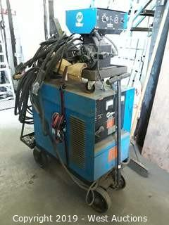 Miller CP-300 DC Arc Welder With Wire Feeder, Cart, And Accessories