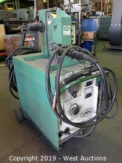 L9nde VI-253 CV/DC Arc Welder With Wire Feeder And Cart
