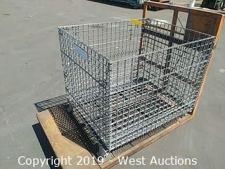 Wire Cage Bin