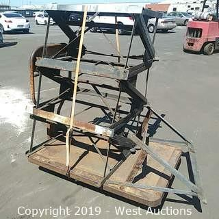 (7) Stacked Steel Saw Horse