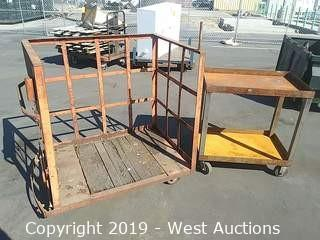 (2) Steel Platform Carts of Varied Size