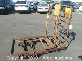 (2) 4' Steel Platform Carts without Planks