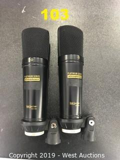 (2) Audio Spectrum OSM 800 Microphones