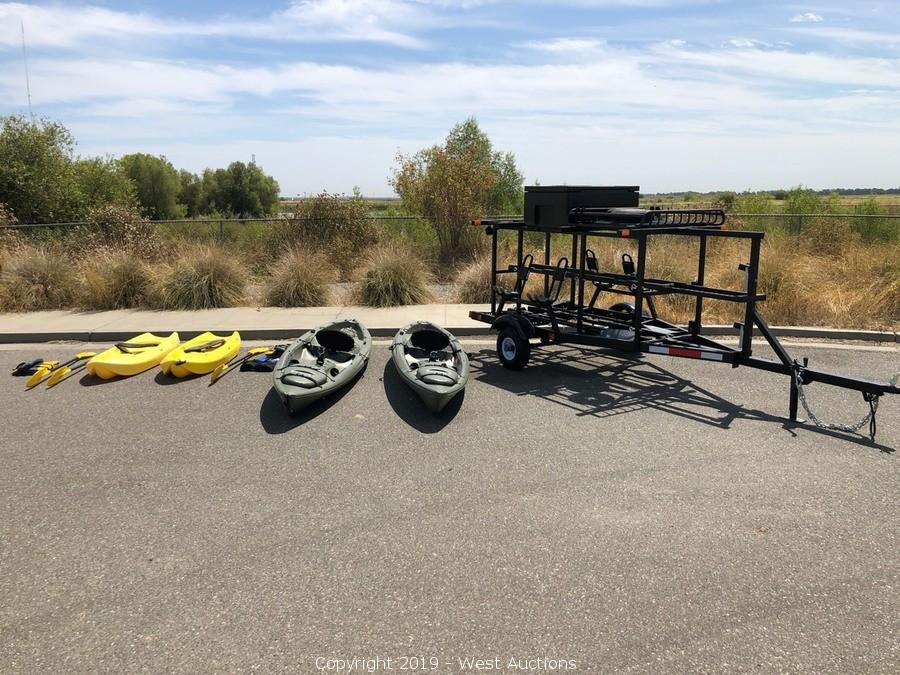 Online Auction of Kayak Trailer and (4) Kayaks in Woodland, CA