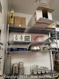 Contents Of Shelf: Restaurant Supplies