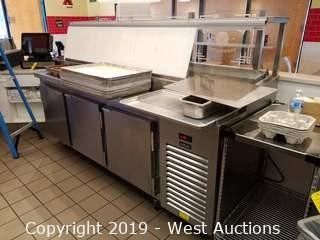 Kairak 3-Door BLU Refrigerated Prep Table