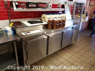 Kairak BLU 3-Door Refrigerated Prep Station