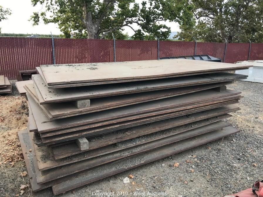 Online Auction of (54) Trench Plates and Shoring Cages in Vacaville, CA
