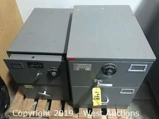 (2) 2 Drawer Safes (No Combos)
