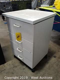 Portable 4 Drawer Cabinet 2.5' H