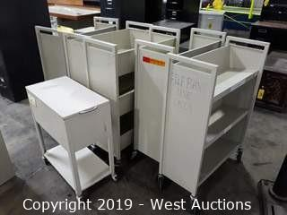(6) File/Book Carts