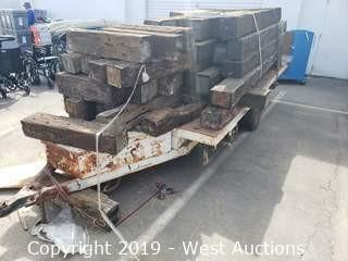 Wood Railroad Ties (ties only, no trailer)