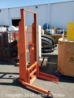 1000 Lb Lift Stacker with Foot Controls