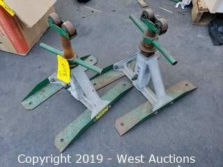 (2) Greenlee Screw Type Reel Stands