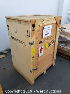 """Wooden Shipping Crate 36"""" x 30"""" x 56"""""""