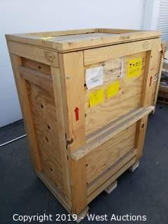 """Empty Wood Shipping Crate 42"""" x 30"""" x 63"""""""