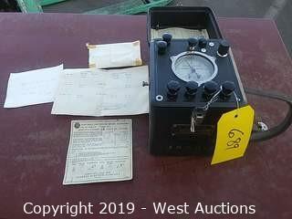 Vintage GE IB-9 Portable Watthour Meter