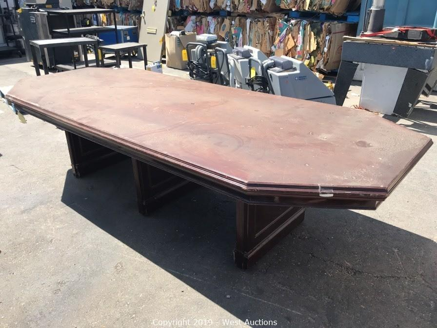 West Auctions Auction Online Auction Of Restaurant Equipment Medical Supplies Electronics And More In Stockton Ca Part 2 Of 2 Item 10 X4 Octagonal Conference Table