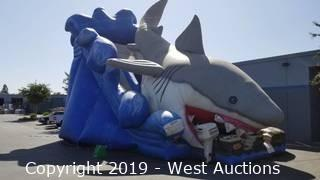 Shark Attack Inflatable Slide