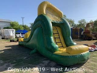 14' Tropical Wet/Dry Inflatable Slide