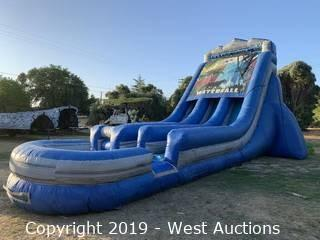 22' Waterfall Inflatable Waterslide