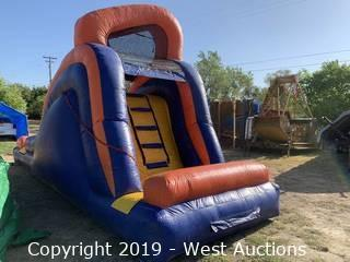 14' Backyard Wet/Dry Inflatable Slide