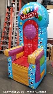Inflatable Birthday Throne with Foam Bottom